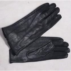 Kožené rukavice s ozdobným šitím