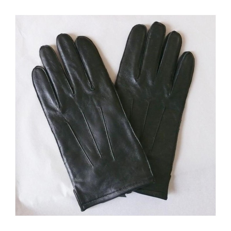 Pánské zimní kožené rukavice s prošitím - černé - Kožené Aktovky ... 8bd0fbd726