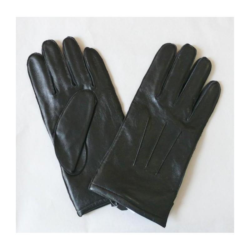 Pánské zimní kožené rukavice s prošitím - černé - Kožené Aktovky ... ac50693e91