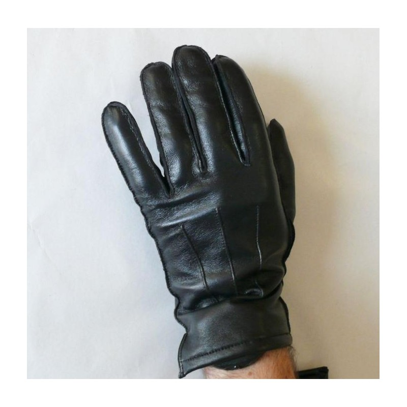 Pánské zimní kožené rukavice s prošitím - černé - Kožené Aktovky ... 1e71bef133