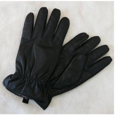Pánské kožené rukavice stažené gumou