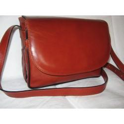 Dámská kožená kabelka - praktická