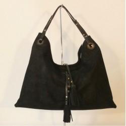 Krásná kabelka z broušené kůže